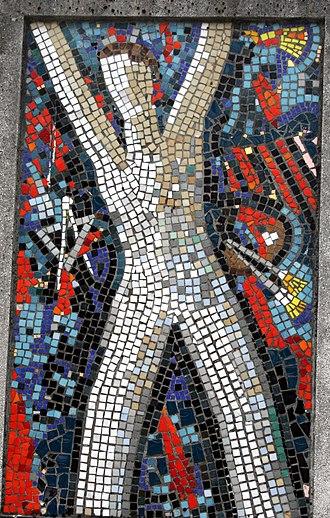 Edo Murtić -  Mosaic by Edo Murtić on the Šeferov family tomb at the Mirogoj Cemetery