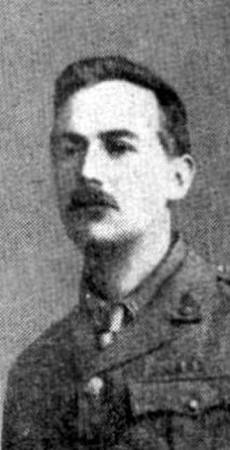 Edward Plunkett, 18th Baron of Dunsany - Dunsany as Captain, Royal Inniskilling Fusiliers, in the First World War