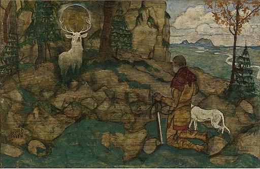 Egon Schiele - Die Vision des Heiligen Hubertus