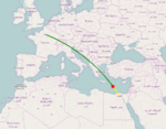 EgyptAir Flight 804 route.png