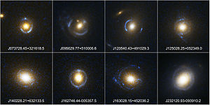 Einstein ring - Some observed Einstein rings by SLACS