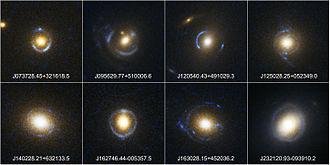Einstein ring - Some observed Einstein rings by SLACS