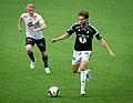 Eirik Schulze (left) and Marius Lundemo, Sogndal-Rosenborg 07-15-2017.jpg