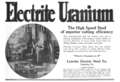 Electrite Uranium HSS advert in American Machinist v53 n1 1920.png