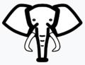 Elephant (an icon of the chess piece) Light Blue Backdrop.png