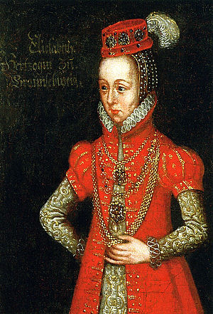 Elisabeth of Brandenburg, Duchess of Brunswick-Calenberg-Göttingen - Elisabeth, woodcut around 1542