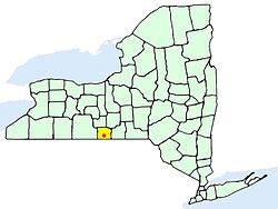 Lage im Chemung County im Bundesstaat New York