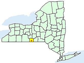 Elmira, New York - Image: Elmiranymap