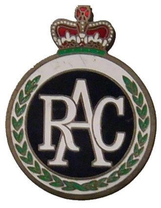 "Royal Automobile Club - Image: Emaille plate of ""The Royal Automobile Club"" in the United Kingdom"