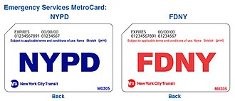 MetroCard (New York City) - NYPD and FDNY MetroCards