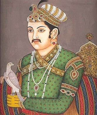 Akbar - Akbar practising falconry