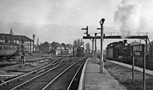Enfield Town railway station - The station in 1957