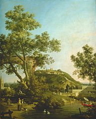 English Landscape Capriccio with a Palace