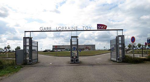 Entrée Gare Lorraine TGV sur la commune de Louvigny Moselle.jpg