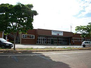 Juiz de Fora Airport - Image: Entrada do Aeroporto Francisco Álvares de Assis