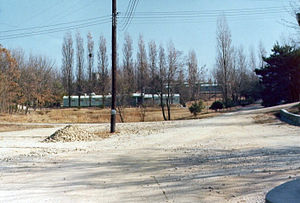 Neutral Nations Supervisory Commission - Entrance to the NNSC camp in 1976