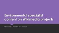 Environmental specialist content on Wikimedia projects - slides.pdf