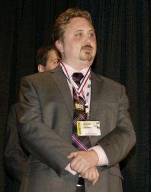 Erik Mona - Erik Mona on August 5, 2011 at the Gen Con Ennies awards show