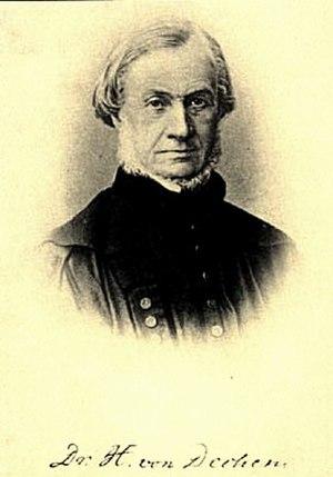 Ernst Heinrich Karl von Dechen - Ernst Heinrich von Dechen