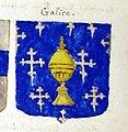 Escudo da Galiza num armorial geral francês do século XVIII.jpg