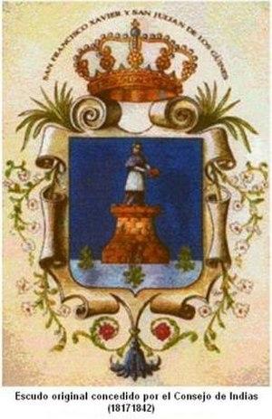 Güines - Image: Escudo de Güines (1817)