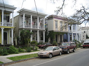 Esplanade Avenue, New Orleans - 19th century residential architecture along Esplanade Avenue.