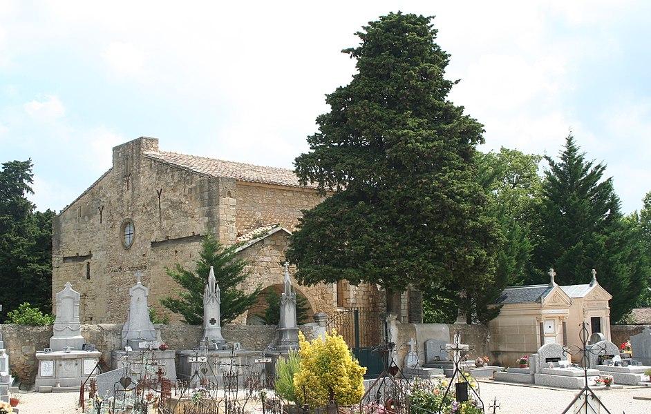 Espondeilhan (Hérault) - Église romane Notre-Dame des Pins.