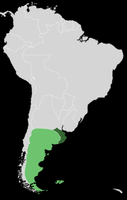The State of Buenos Aires in 1852. Non-effective control zones are shown in lighter green.