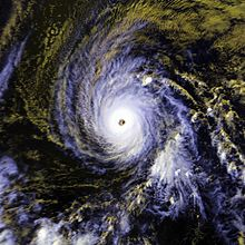 Hurricane Estelle near peak intensity on July 20, 1986