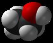 Space-filling model of ethanol