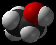 Kalottenmodell des Ethanols.