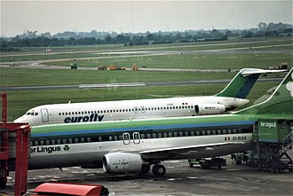 Eurofly - A Eurofly Douglas DC-9 in the original livery at Dublin Airport.