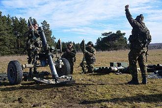 EU Battlegroup - Dutch artillery exercise in Grafenwoehr, Germany, 2014