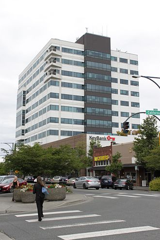 Everett, Washington - Key Bank Tower, the tallest building in Everett, Washington