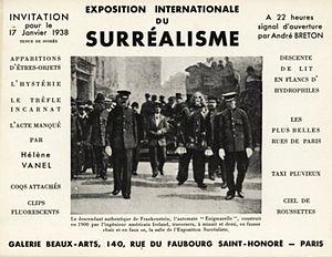 Exposition Internationale du Surréalisme - Invitation card depicting Enigmarelle