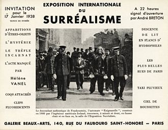 Exposition Internationale du Surréalisme - Invitation card depicting Enigmarelle