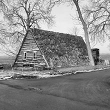 A Historic Photograph Of An A Frame Sod Roof House In The Netherlands.  Image: Cultural Heritage Agency Of The Netherlands 20309407   RCE