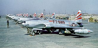 Air Battle of South Korea - F-80Cs of the 8th Fighter-Bomber Group in Korea during the summer of 1950.