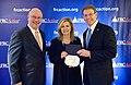 "FRC President Tony Perkins presents the ""True Blue"" award to Congresswoman Marsha Blackburn.jpg"