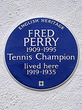 aef0be3f0 English Heritage blue plaque at 223 Pitshanger Lane, Ealing, London