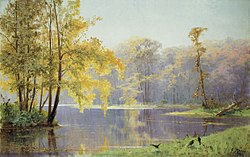 Fall Day in the Lefortovo Palace Garden in Moscow (Junge, 1892).jpg