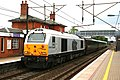 Family silver, 67029 and the EWS executive train at Welwyn North. - panoramio.jpg