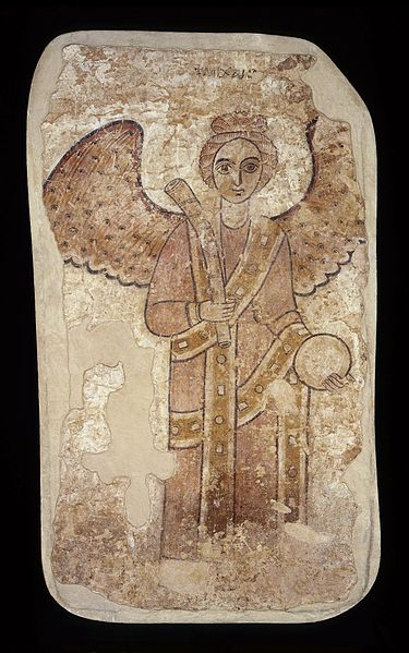 File:Faras - Archangel Michael with a horn trumpet and an orb - Google Art Project.jpg