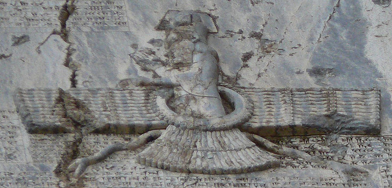 File:Faravahar at Behistun.jpg