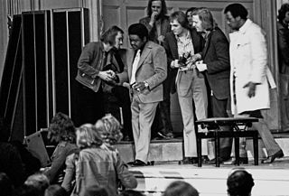 Fats Domino playing in Hamburg, Germany, 1973