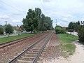 Felsőgöd train stop, exit railway signals, 2020 Göd.jpg