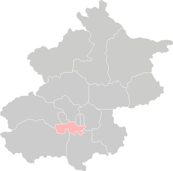 Location of Fengtai District in Beijing