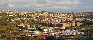 Perugia - Skyline of Perugia hilltop city and valley