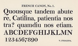 Vincent Figgins - Image: Figgins French Canon No. 1 (8722316678)