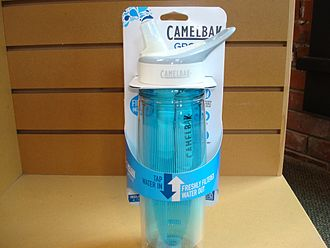 Water bottle - Carbon filtering water bottle.